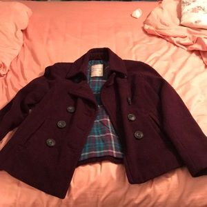 Aeropostale Purple Pea Coat